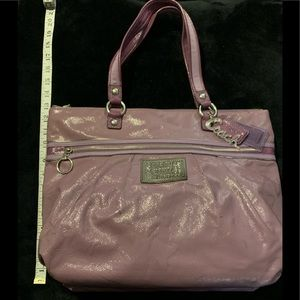Coach Poppy Lavender Patent Glam Tote 15791
